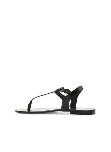 Divarese Divarese 5022900 Kadın Deri Sandalet Siyah